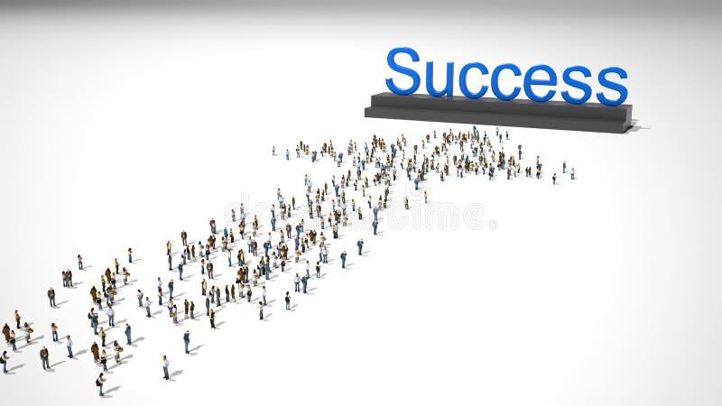 Πλήθος που περπατά στην επιτυχία στοκ φωτογραφία