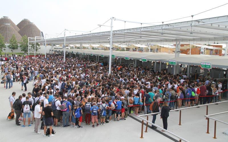 Πλήθος EXPO 2015 στοκ εικόνες