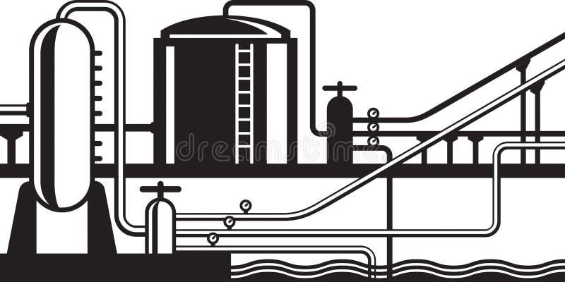 Πλήμνη φυσικού αερίου και πετρελαίου στη σωλήνωση απεικόνιση αποθεμάτων