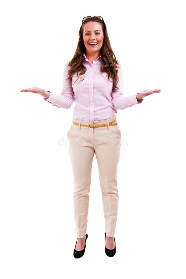 Πλήρες μήκος της όμορφης γυναίκας στοκ εικόνα