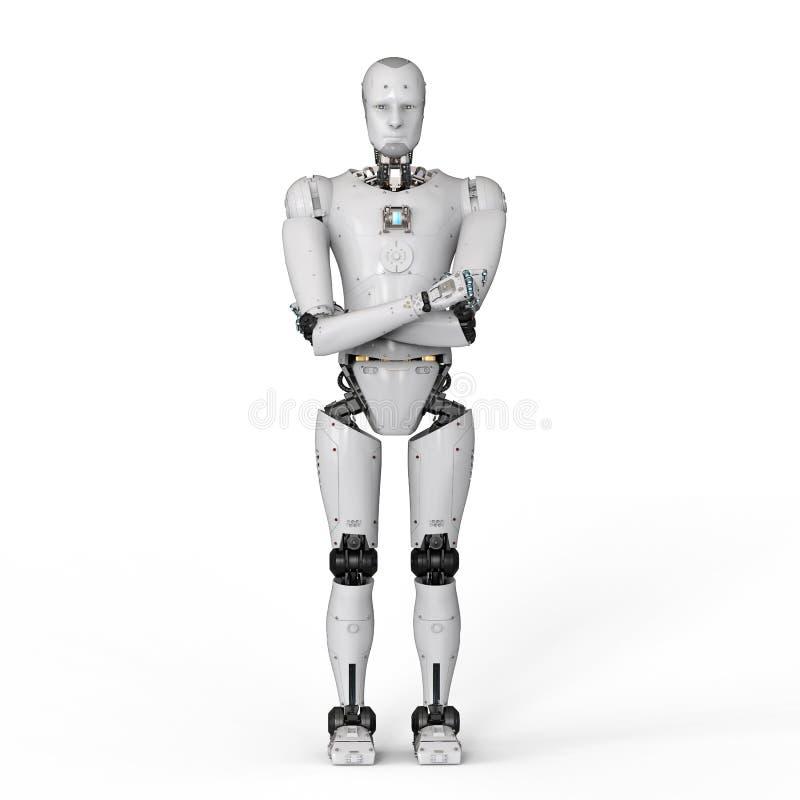 Πλήρες σώμα ρομπότ διανυσματική απεικόνιση