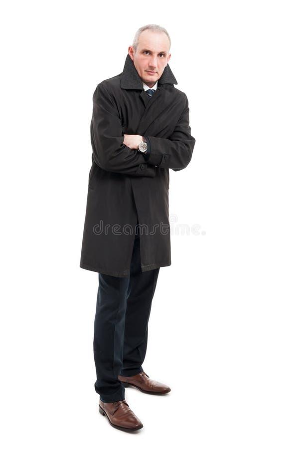 Πλήρες σώμα του ατόμου Μεσαίωνα που φορά το αδιάβροχο στοκ φωτογραφία με δικαίωμα ελεύθερης χρήσης