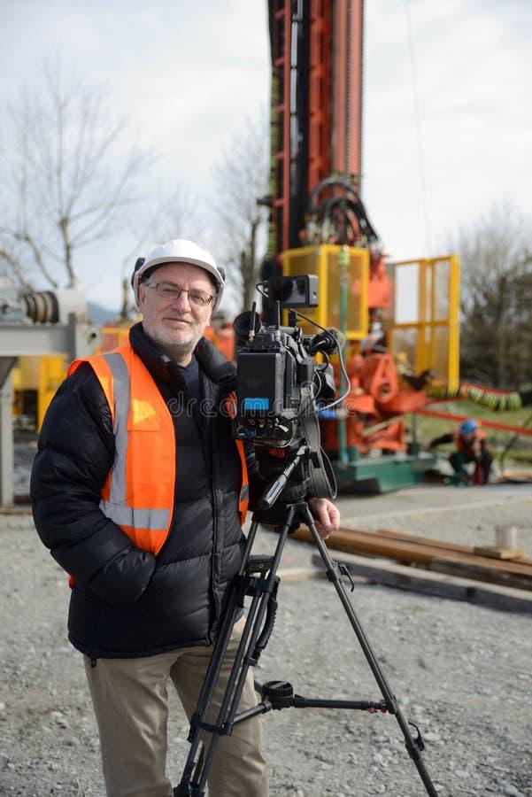 Πλήρωμα ταινιών στην εργασία στοκ εικόνα