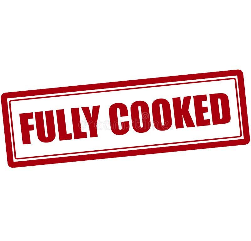Πλήρως μαγειρευμένος απεικόνιση αποθεμάτων