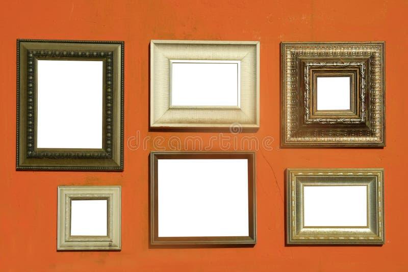Πλαίσια εικόνων στον τοίχο στοκ εικόνες