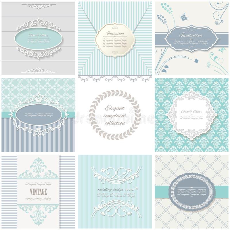 Πλαίσια, κάρτες και σχέδια Εκλεκτής ποιότητας πρότυπα απεικόνιση αποθεμάτων