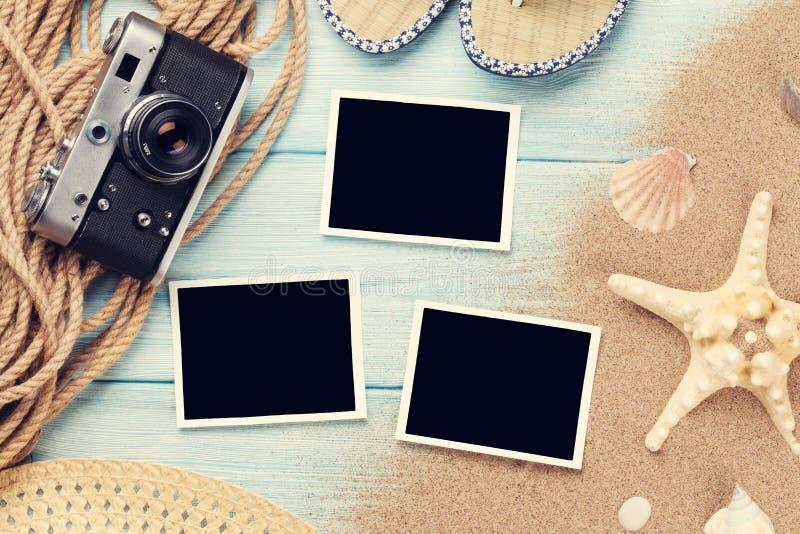 Πλαίσια και στοιχεία φωτογραφιών ταξιδιού και διακοπών στοκ φωτογραφία με δικαίωμα ελεύθερης χρήσης