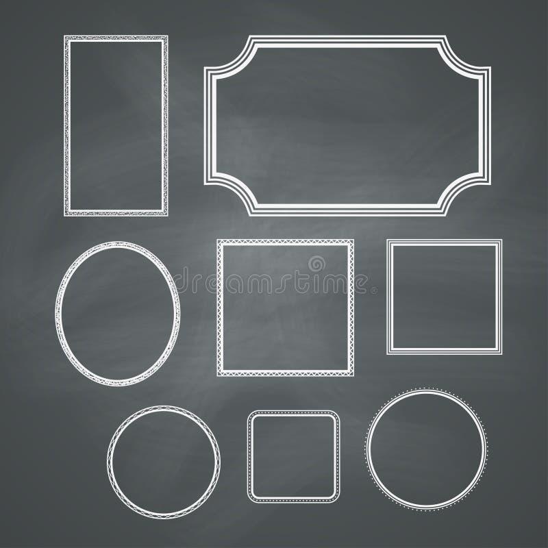 Πλαίσια πινάκων κιμωλίας ελεύθερη απεικόνιση δικαιώματος