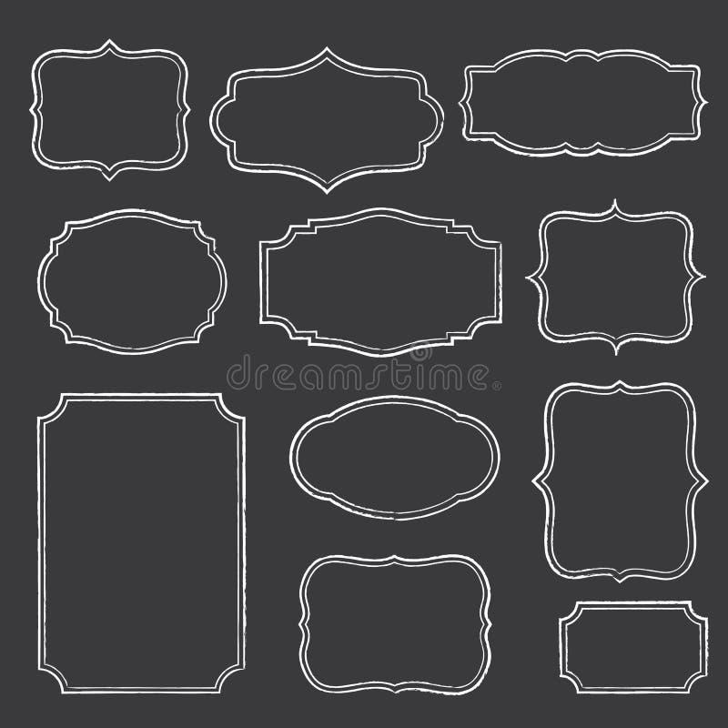 Πλαίσια πινάκων κιμωλίας απεικόνιση αποθεμάτων