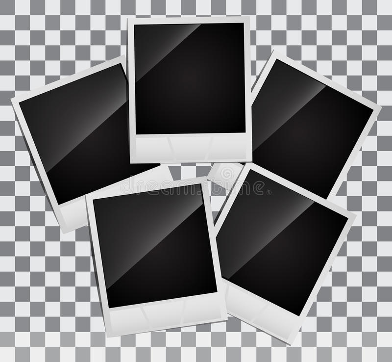 Πλαίσια φωτογραφιών Polaroid διανυσματική απεικόνιση