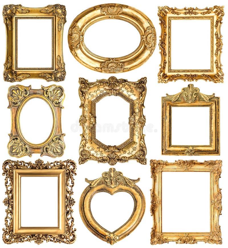 πλαίσια χρυσά μπαρόκ παλαιά αντικείμενα ύφους στοκ εικόνα με δικαίωμα ελεύθερης χρήσης