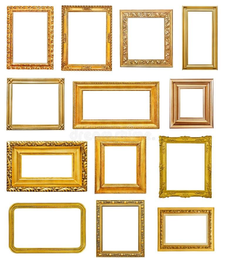 πλαίσια χρυσά ελεύθερη απεικόνιση δικαιώματος