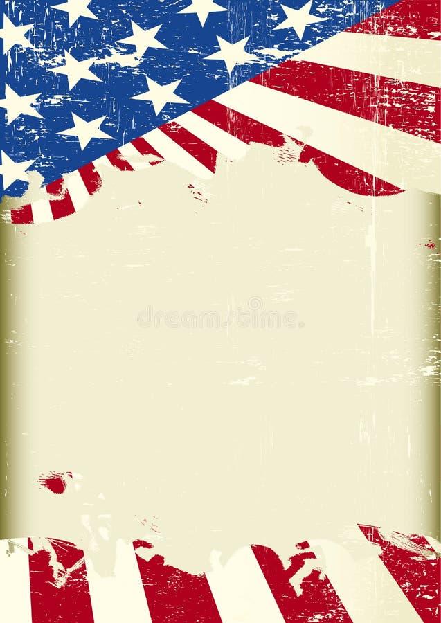 Πλαίσιο αμερικανικών σημαιών διανυσματική απεικόνιση