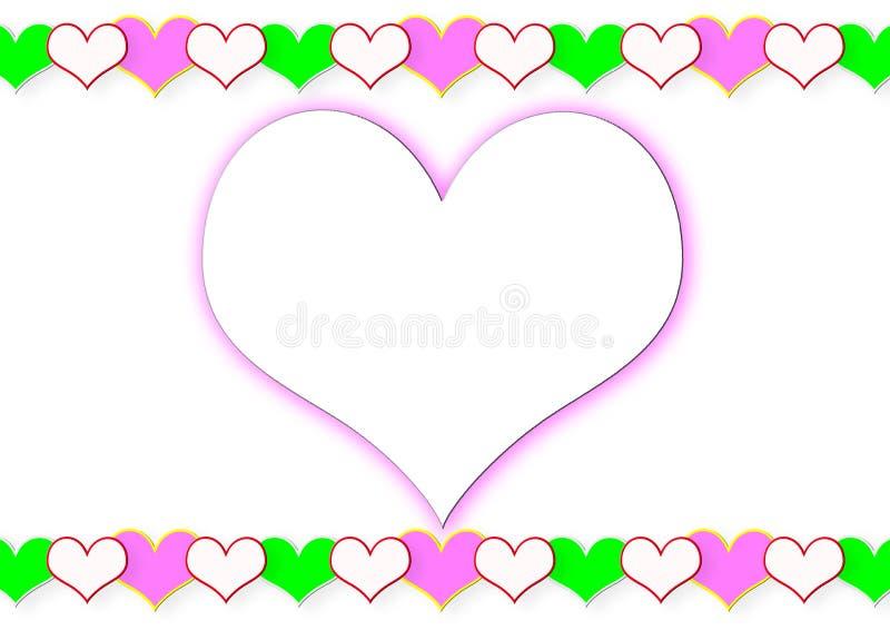 Πλαίσιο από τις καρδιές και τη μεγάλη καρδιά στοκ φωτογραφία