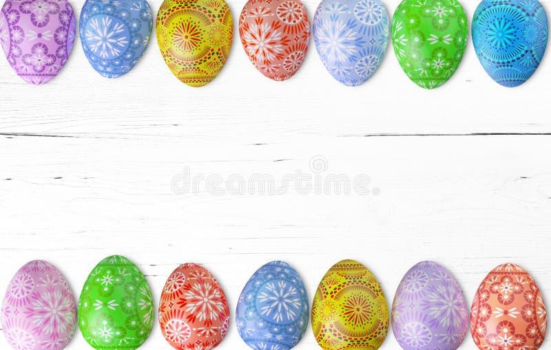Πλαίσιο αυγών Πάσχας ενάντια στοκ εικόνα με δικαίωμα ελεύθερης χρήσης