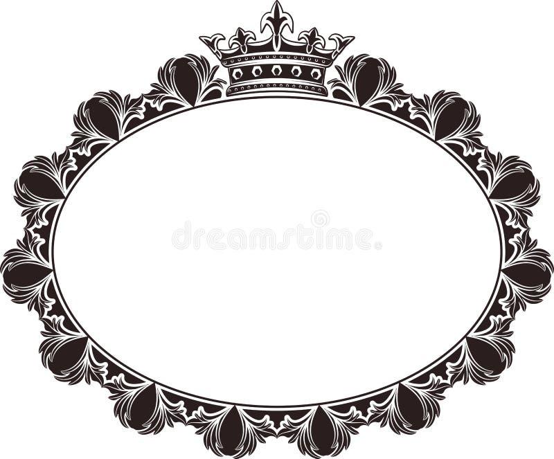 πλαίσιο βασιλικό διανυσματική απεικόνιση