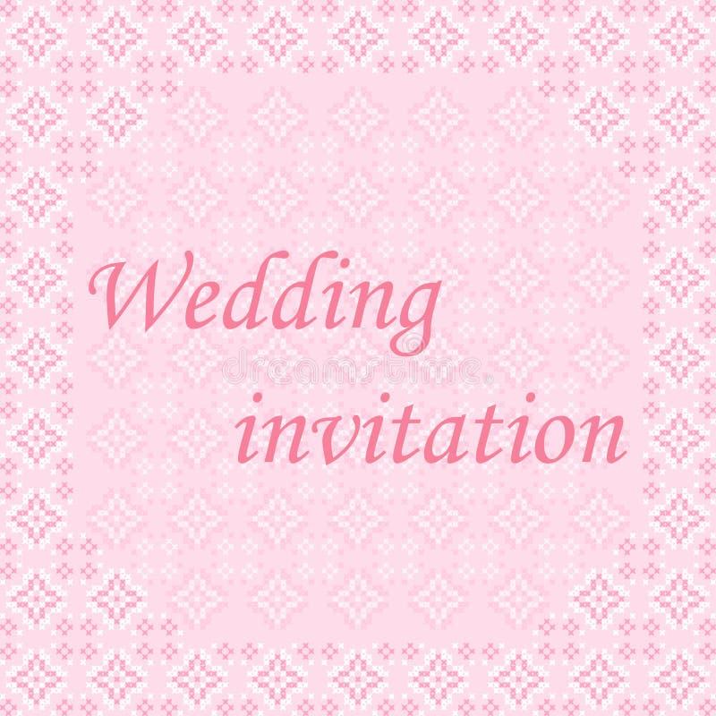 Πλαίσιο, γαμήλια πρόσκληση στοκ εικόνα