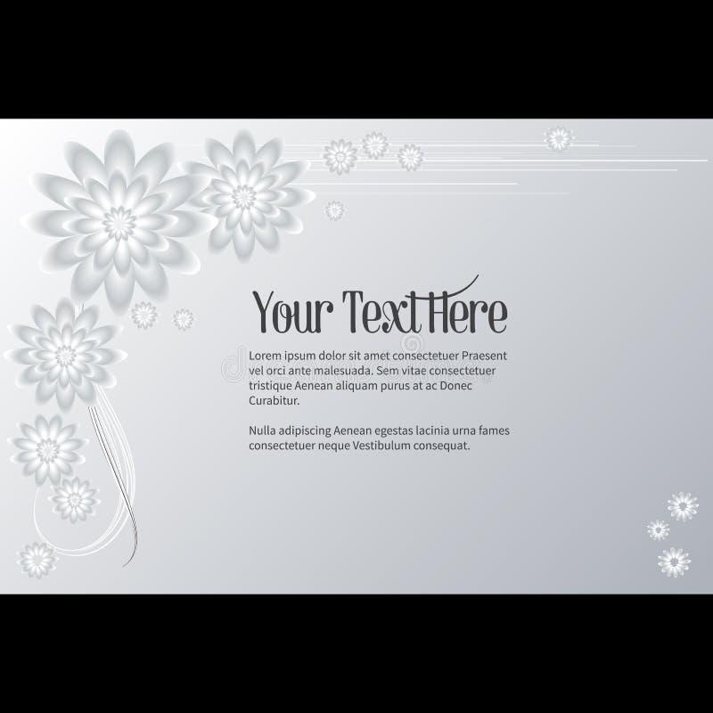 Πλαίσιο για το κείμενο με το κομψό αφηρημένο floral μοτίβο απεικόνιση αποθεμάτων