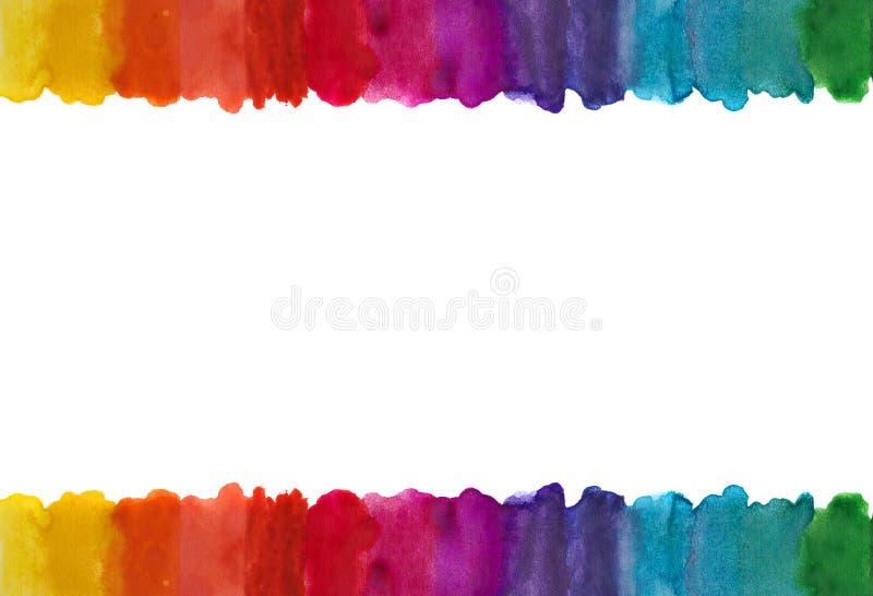 Πλαίσιο γραμμών Watercolor στοκ εικόνες με δικαίωμα ελεύθερης χρήσης