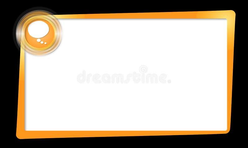 Πλαίσιο και διαφανείς κύκλοι με τη λεκτική φυσαλίδα ελεύθερη απεικόνιση δικαιώματος