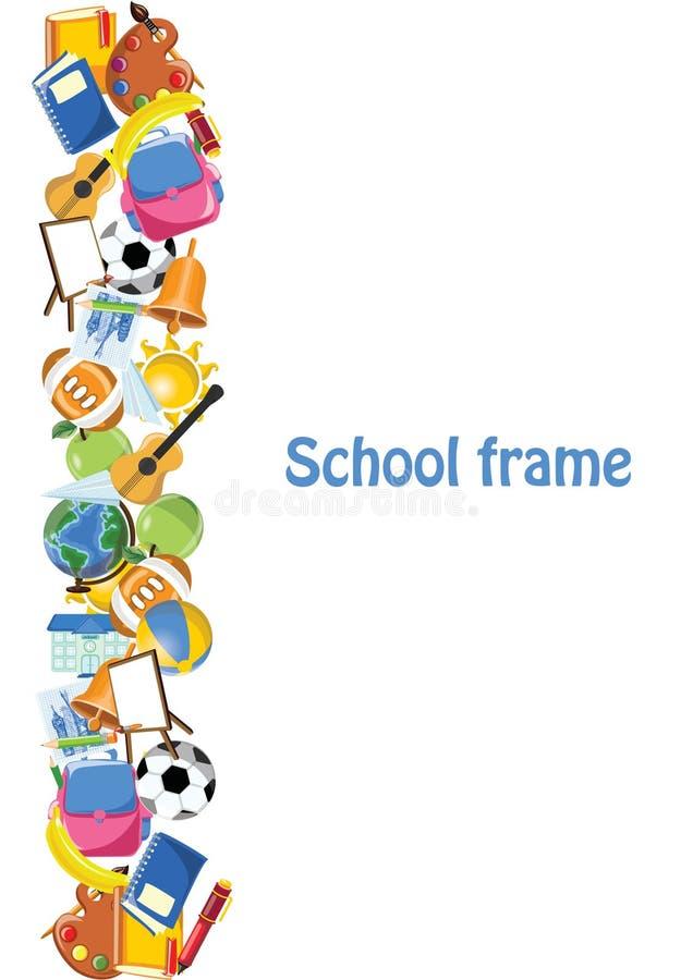 Πλαίσιο σχολικών εμβλημάτων ελεύθερη απεικόνιση δικαιώματος