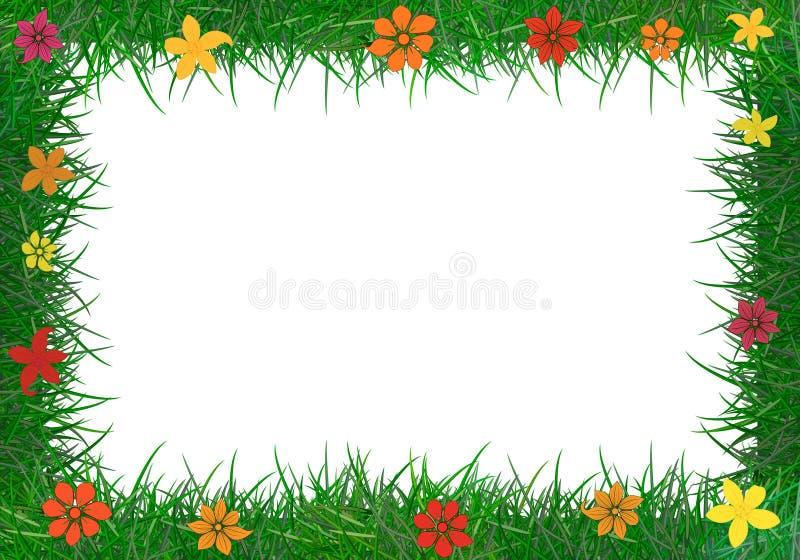 Πλαίσιο της πράσινης χλόης. διανυσματική απεικόνιση