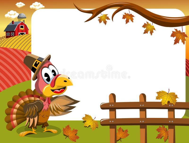 Πλαίσιο της Τουρκίας ημέρας των ευχαριστιών διανυσματική απεικόνιση