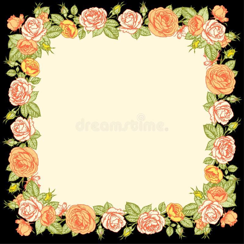 Πλαίσιο τριαντάφυλλων διανυσματική απεικόνιση