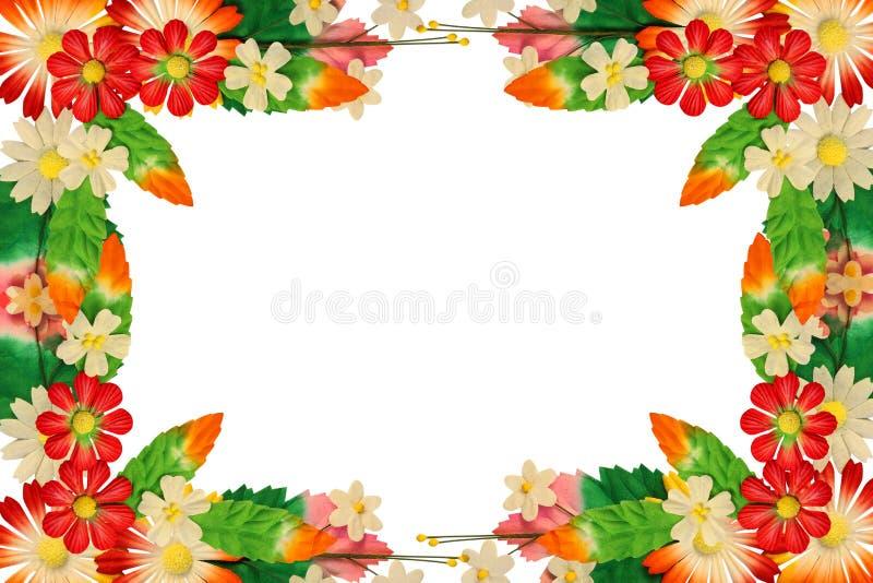 Πλαίσιο των λουλουδιών φιαγμένο από ζωηρόχρωμο έγγραφο στοκ φωτογραφίες με δικαίωμα ελεύθερης χρήσης