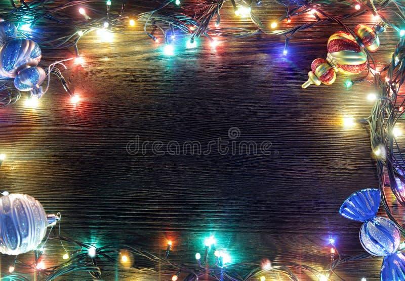 Πλαίσιο των φω'των Χριστουγέννων στοκ εικόνες με δικαίωμα ελεύθερης χρήσης