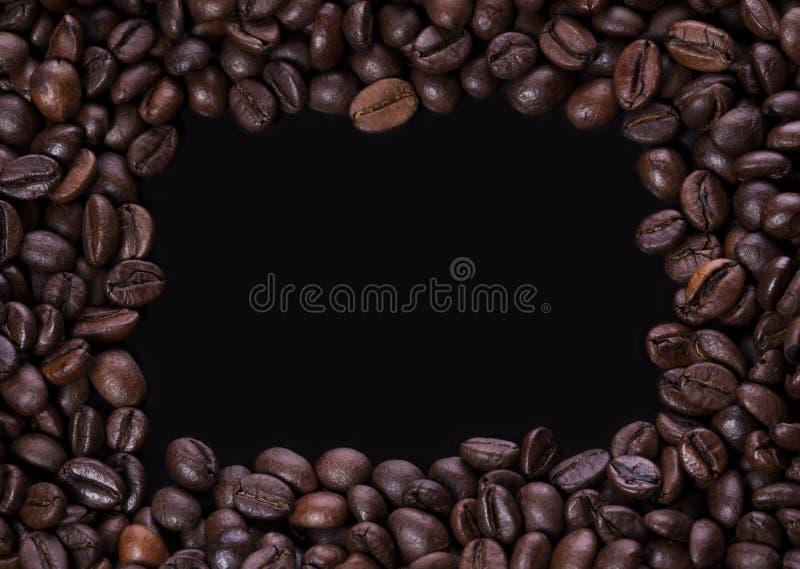 Πλαίσιο φασολιών καφέ στοκ εικόνες με δικαίωμα ελεύθερης χρήσης