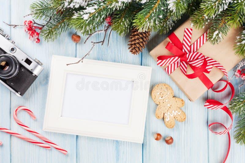 Πλαίσιο φωτογραφιών Χριστουγέννων στοκ φωτογραφίες με δικαίωμα ελεύθερης χρήσης