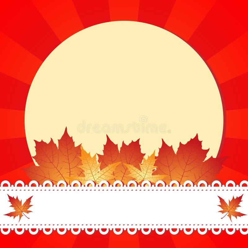 Πλαίσιο χαιρετισμού φθινοπώρου απεικόνιση αποθεμάτων