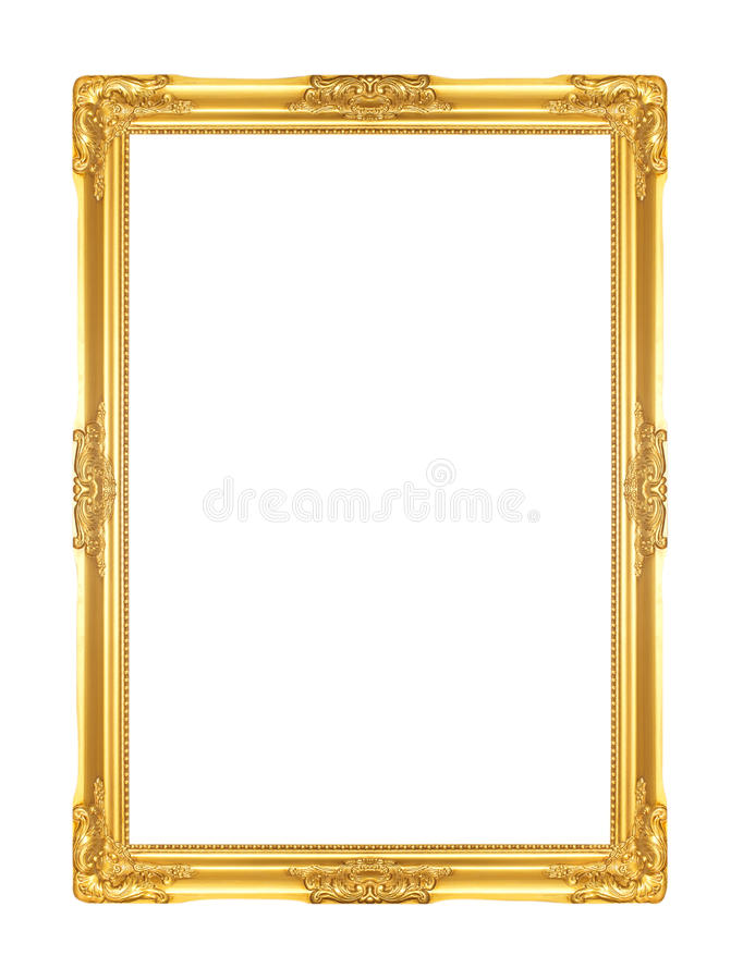 πλαίσιο χρυσό στοκ εικόνα