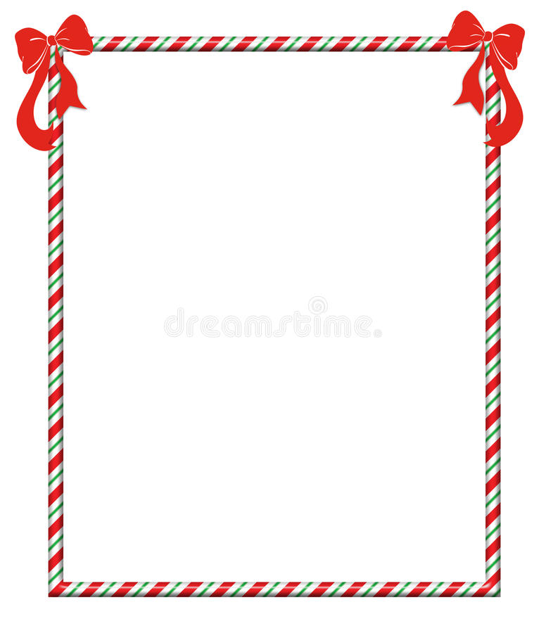 Πλαίσιο Candycane Χριστουγέννων απεικόνιση αποθεμάτων