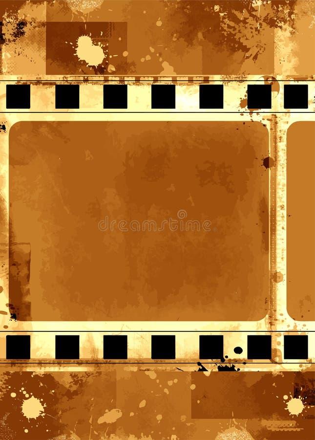 Πλαίσιο Grunge - μεγάλη στενοχωρημένη σύσταση Διακοσμητικά διανυσματικά ξεπερασμένα τρύγος σύνορα Μεγάλο υπόβαθρο ή αναδρομικό σχ διανυσματική απεικόνιση