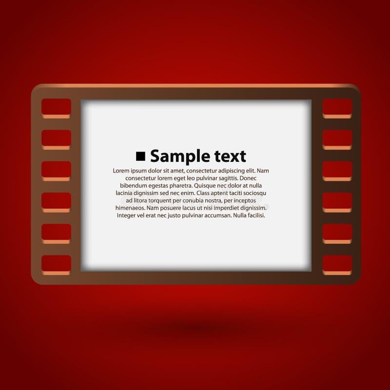 Πλαίσιο 35mm ταινιών ελεύθερη απεικόνιση δικαιώματος