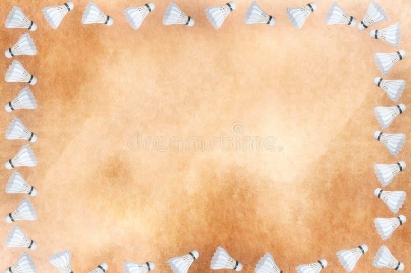 Πλαίσιο Shuttlecock στοκ εικόνα
