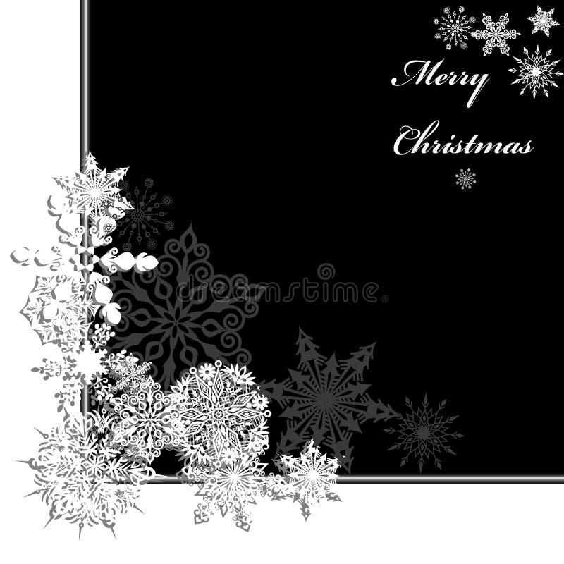 Πλαίσιο snowflake Χριστουγέννων διανυσματική απεικόνιση