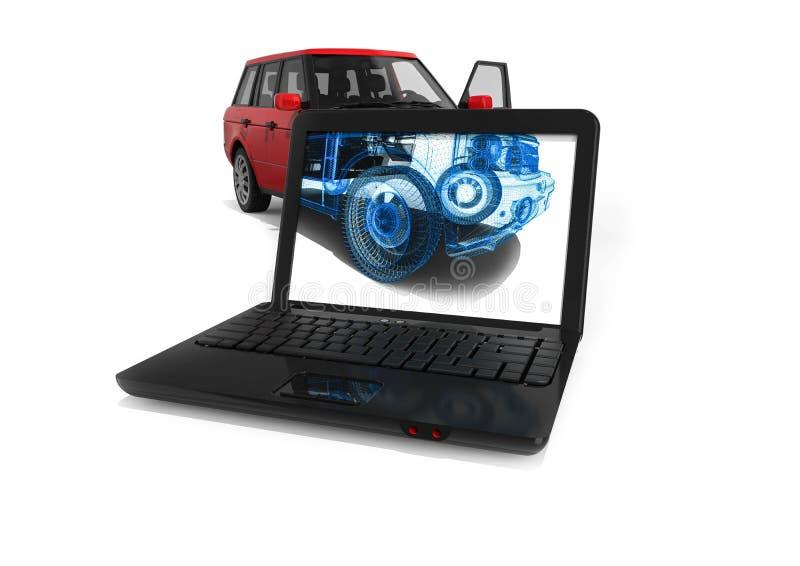 Πλαίσιο SUV καλωδίων διανυσματική απεικόνιση