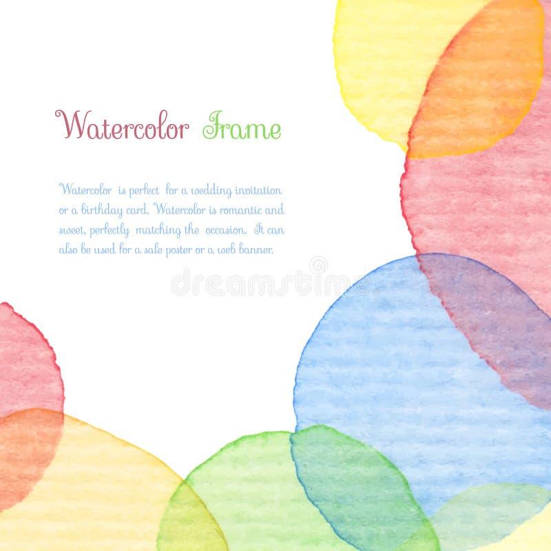 Πλαίσιο Watercolor διανυσματική απεικόνιση