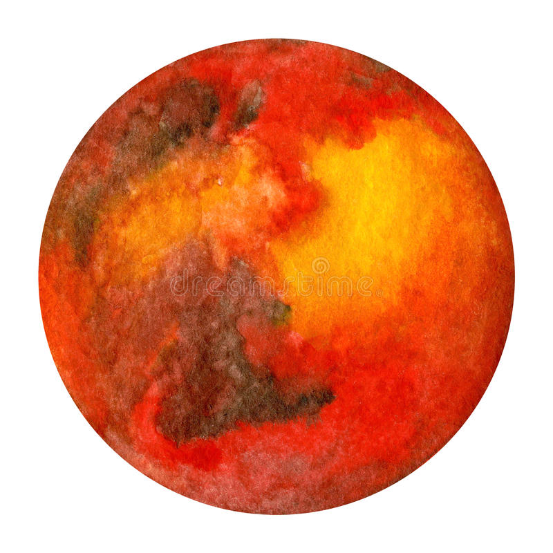 Πλανήτες ηλιακών συστημάτων - Άρης η διακοσμητική εικόνα απεικόνισης πετάγματος ραμφών το κομμάτι εγγράφου της καταπίνει το water ελεύθερη απεικόνιση δικαιώματος