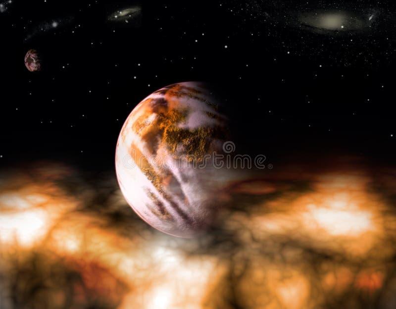 Πλανήτες πέρα από το νερό διανυσματική απεικόνιση