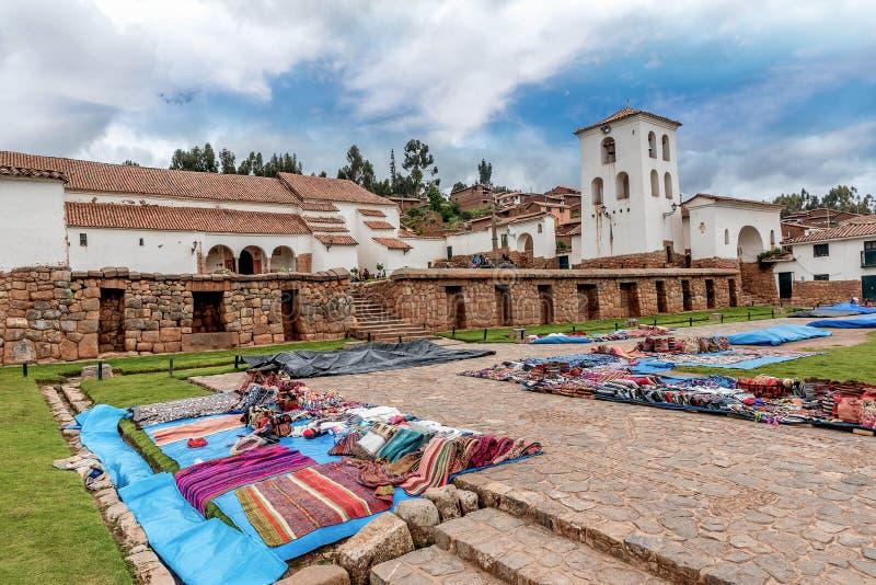 Πλανόδιοι πωλητές σε Cusco, Περού στοκ εικόνες