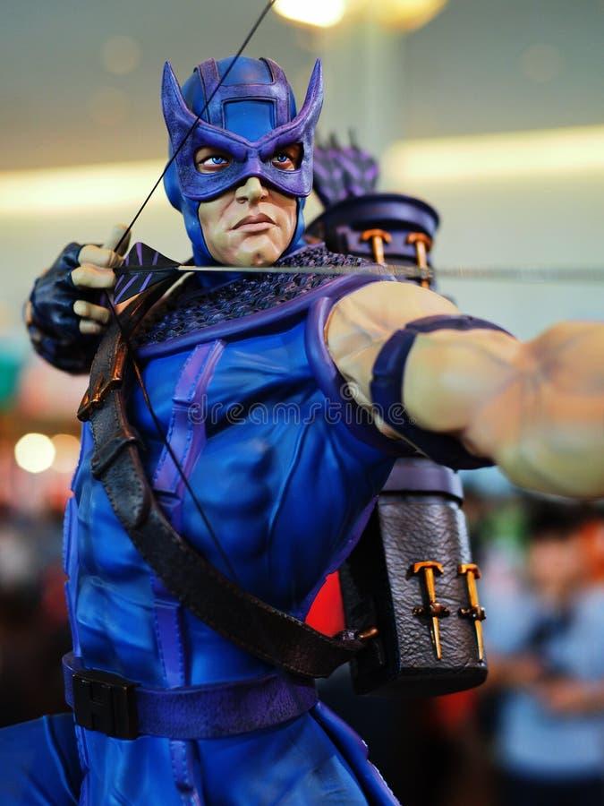 Πλασματικό superhero Hawkeye χαρακτήρα στοκ εικόνες