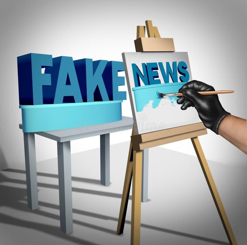 Πλαστά ειδησεογραφικά μέσα ελεύθερη απεικόνιση δικαιώματος