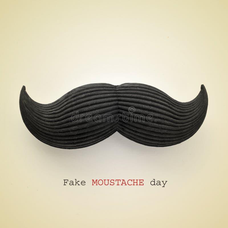 Πλαστή ημέρα moustache στοκ εικόνες