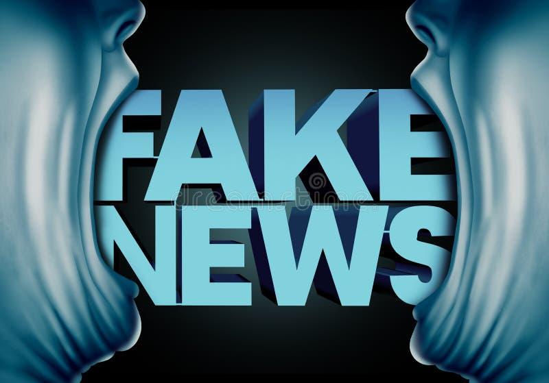 Πλαστή υποβολή έκθεσης ειδήσεων διανυσματική απεικόνιση