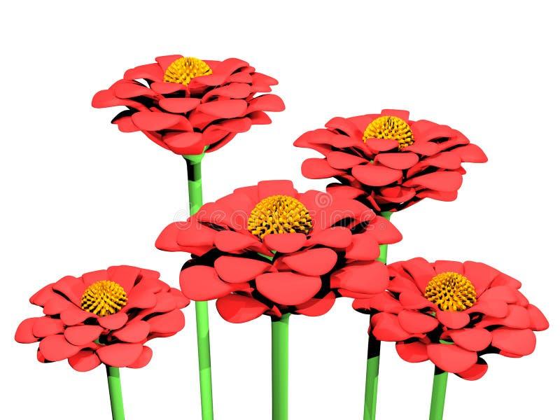 Πλαστική διακόσμηση λουλουδιών διανυσματική απεικόνιση