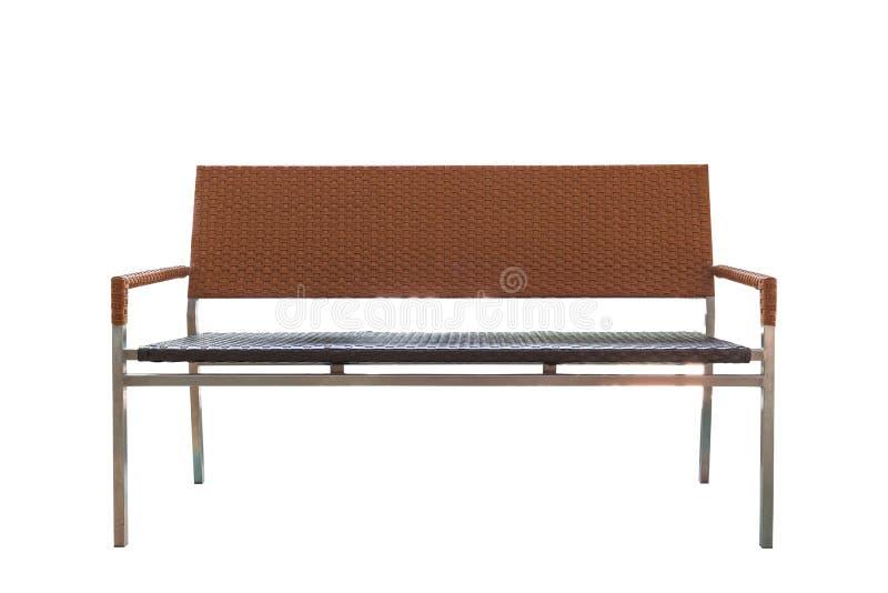 Πλαστική λυγαριά ύφανσης καρεκλών πάγκων επίπλων καναπέδων στοκ φωτογραφίες με δικαίωμα ελεύθερης χρήσης